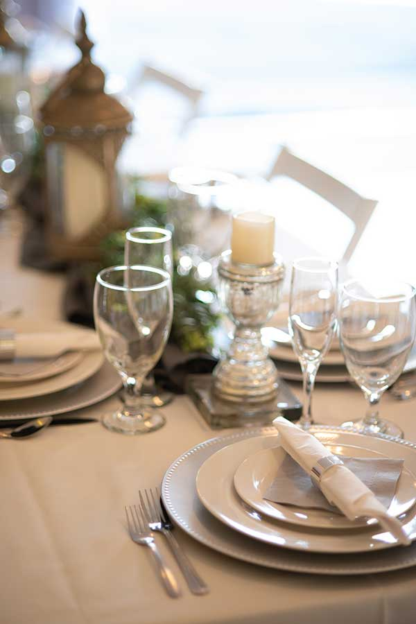 Request Event Info image of table set up for a wedding