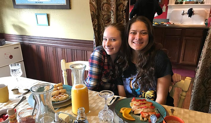 Family Reunions - sisters at the breakfast table