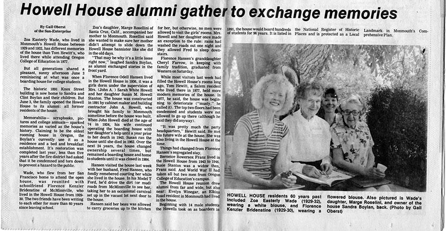 House alumni get together