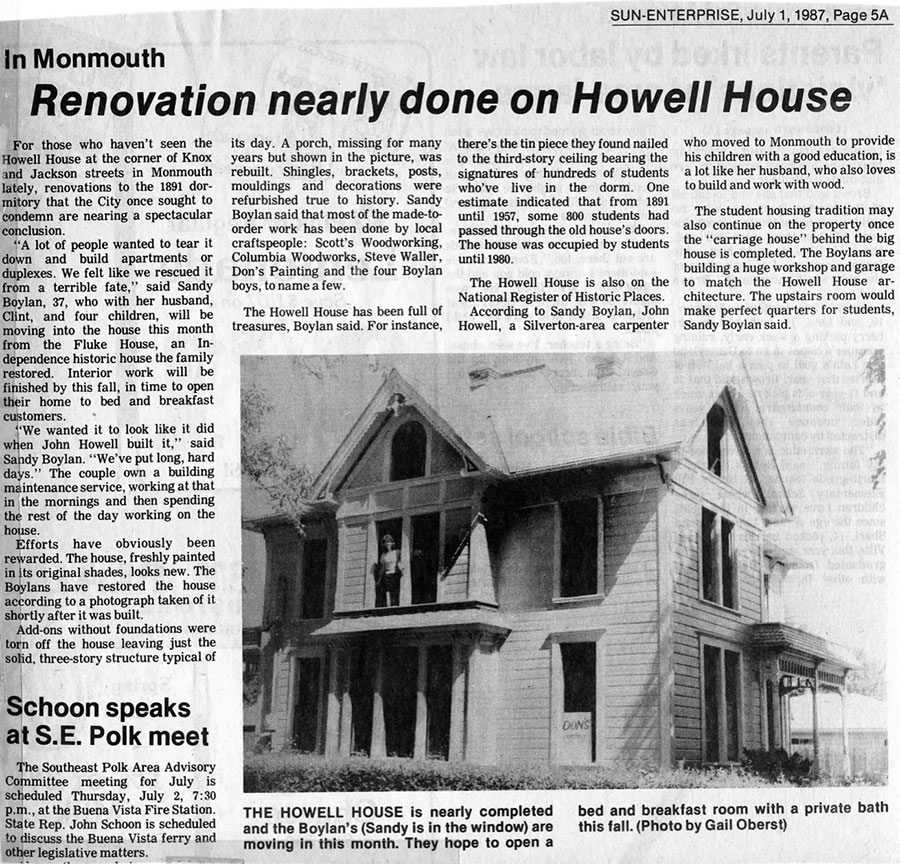 Renovation nearly done on Howell House