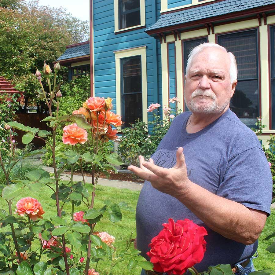 Ned - our Rose Guru