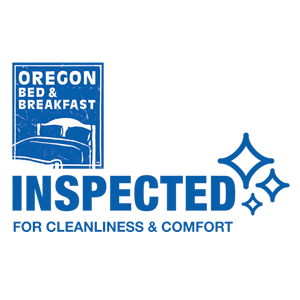 Oregon bed and breakfast association logo, inspected and approved