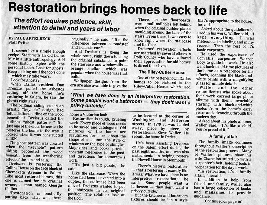 Restoration Article